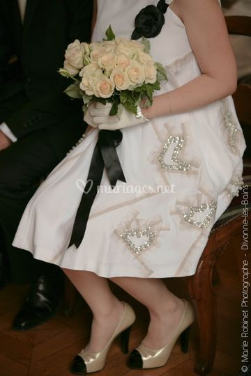 Détail robe & bouquet de la ma
