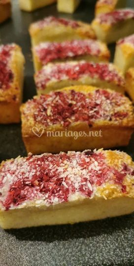 Financier coco/framboise