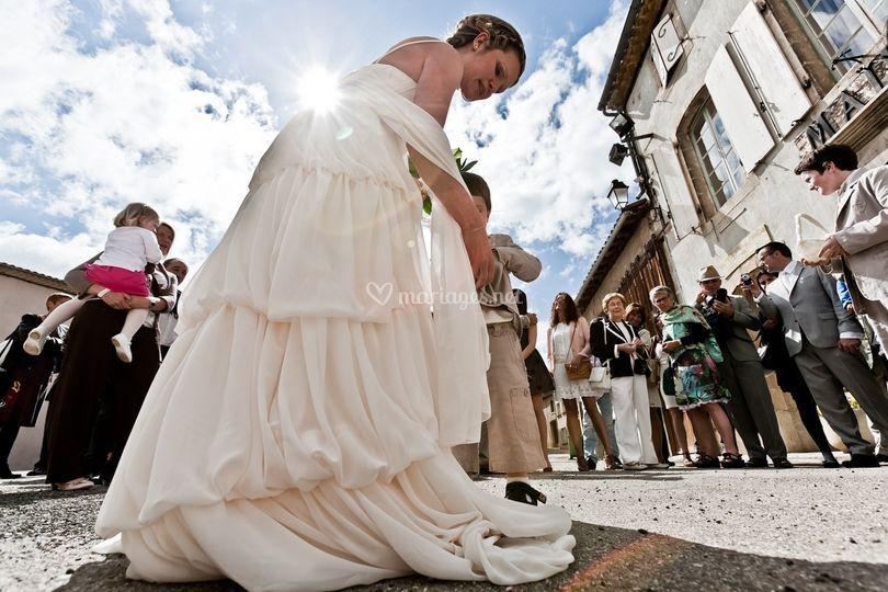 La mariée en contre jour