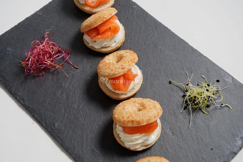 Bagels aux saumon