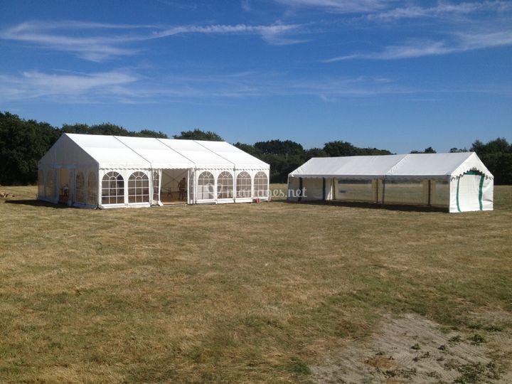 120 m² plancher/ tente festive 60 m²