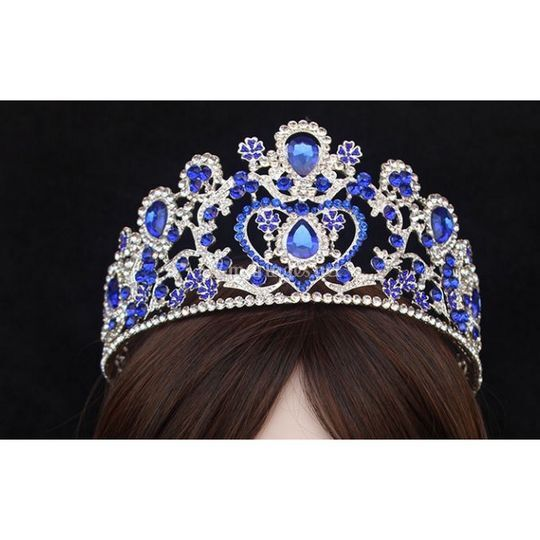 Diadème cristal bleu royal