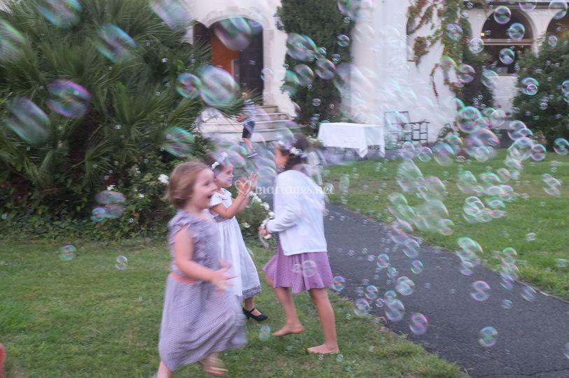 On court après les bulles