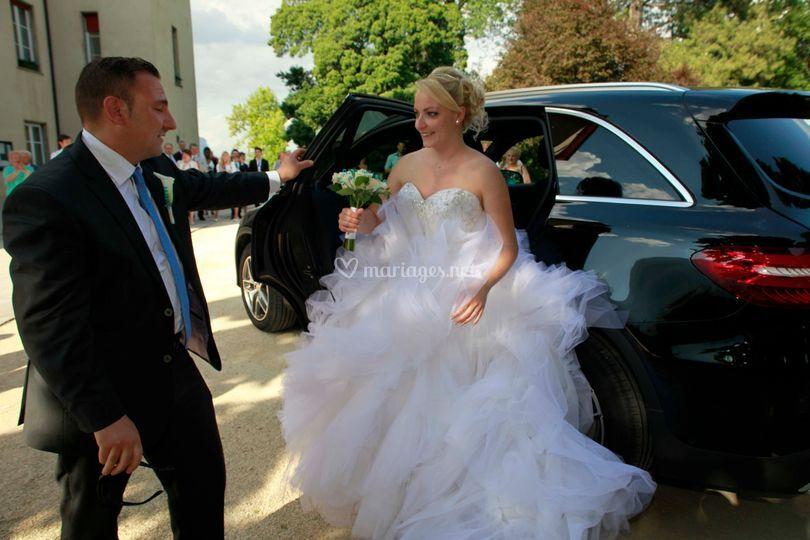 Arrivée des mariées