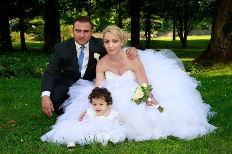 Photo des mariées