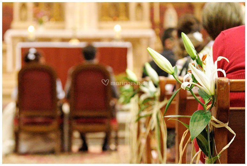 Décor à l'église