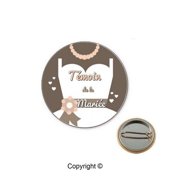 Badge témoin mariage