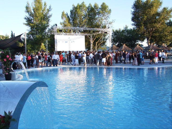 Cocktail au bord des piscines