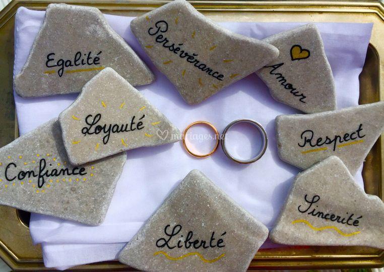 Des pierres et des valeurs