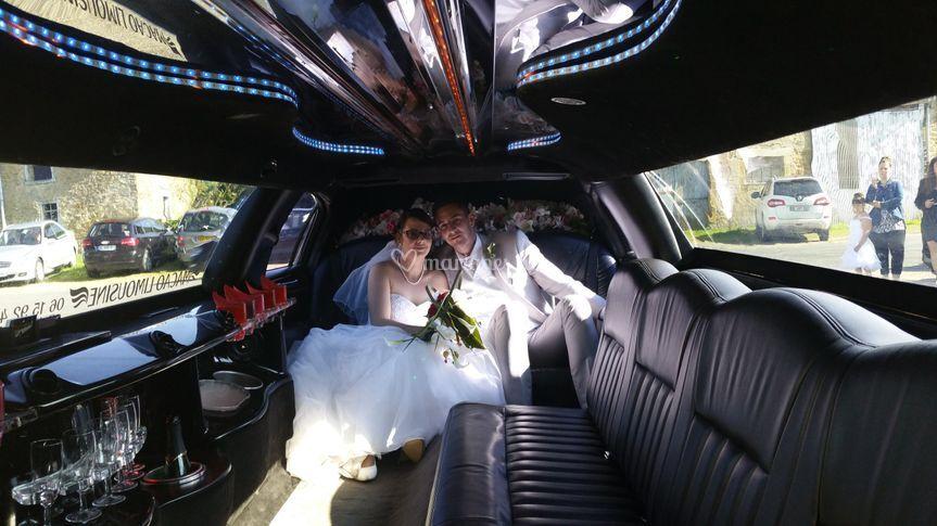 Une arrivée de mariés