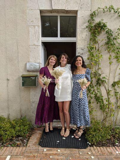 Bouquets de mariée secs