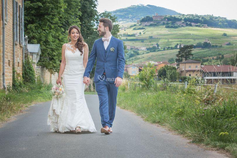 Mariage monts du beaujolais