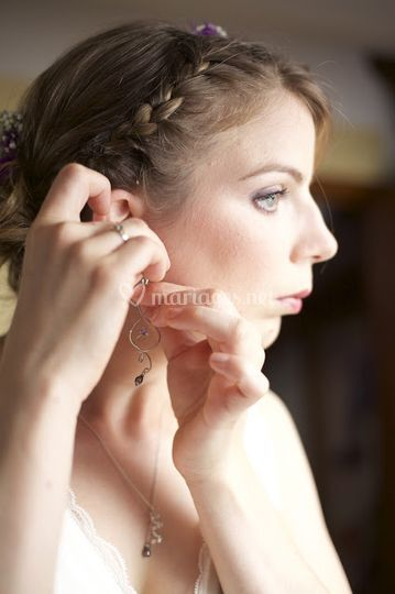 Boucles d'oreilles et collier