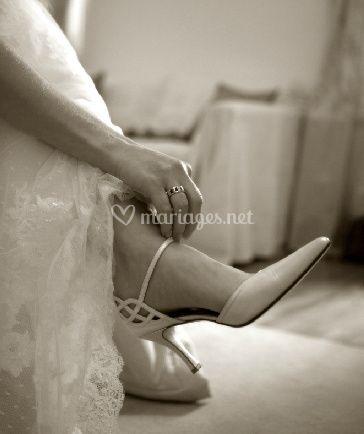 La mariée chaussures