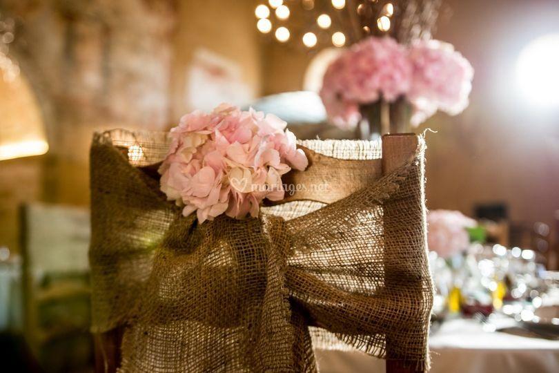 Décoration chaise romantique