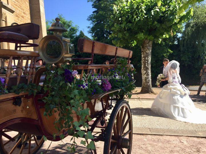 Mariage chic et champêtre 18e