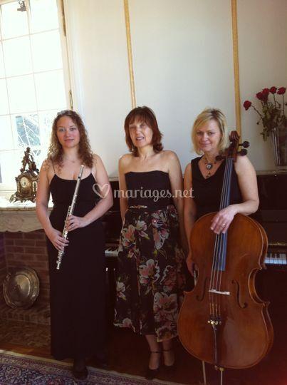 Trio Arpeggione avec les instruments