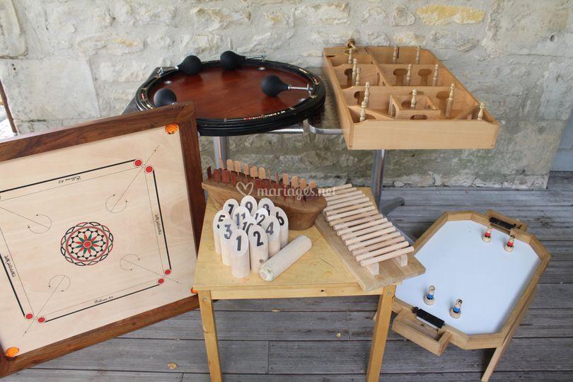 Jeux géants en bois