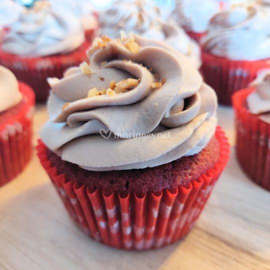 Cupcake red velvet - nutella