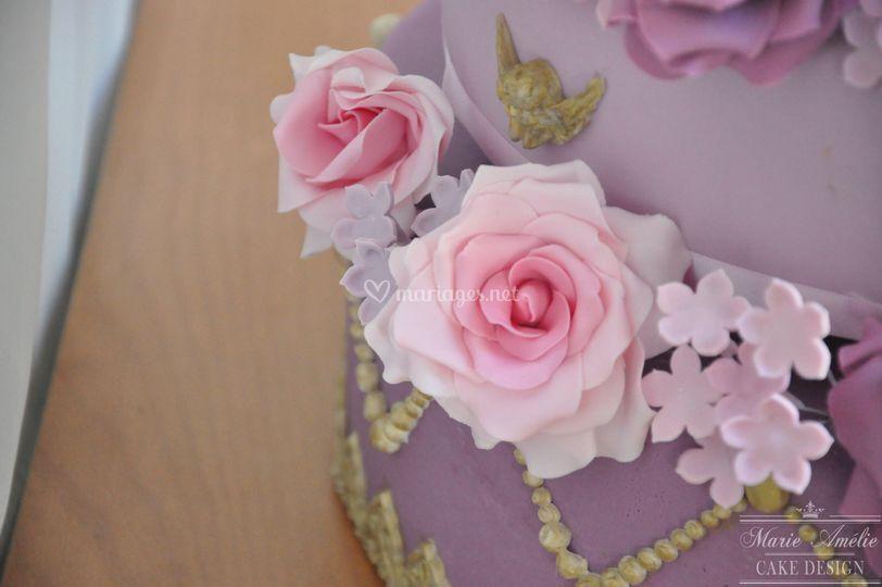 Wedding cake détail fleurs
