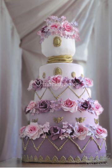 Wedding cake doux et fleuri