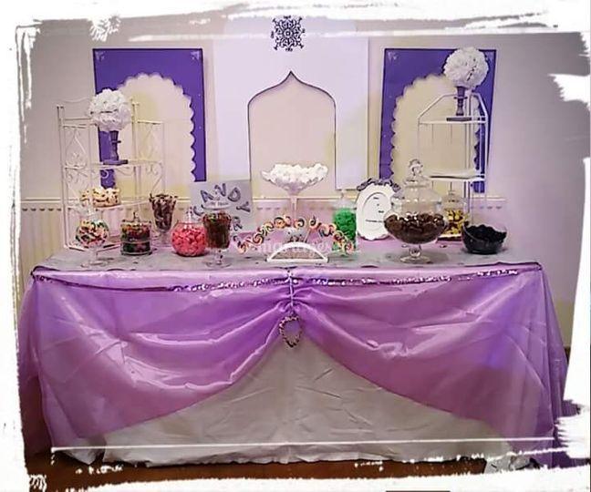 """Candy bar violet thème """"orient"""