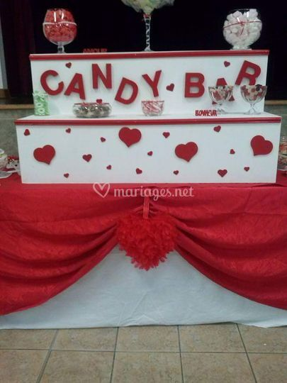 """Candy bar rouge thème """"amour"""""""