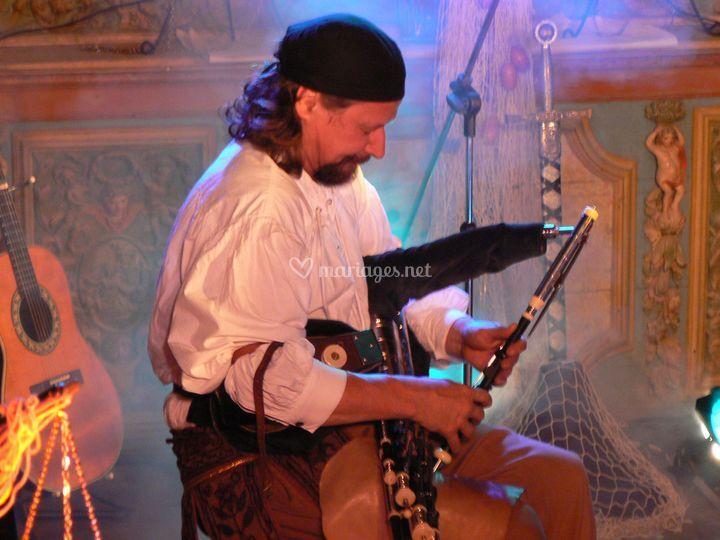 Le spectacle dans une eglise cornemuse irlandaise