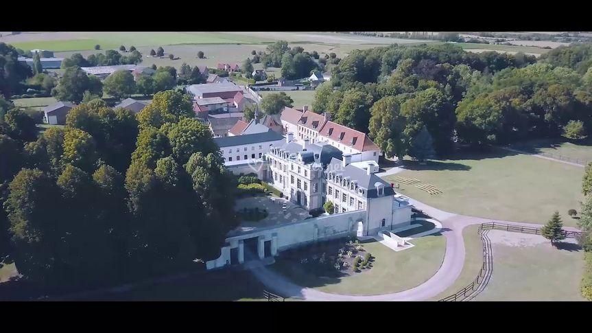 Drone sur le château