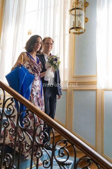 Mariés escalier