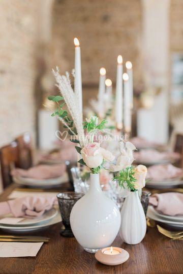 Table décorée avec soin