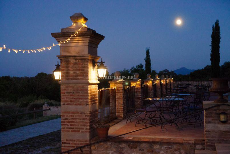 Clair de lune sur la terrasse