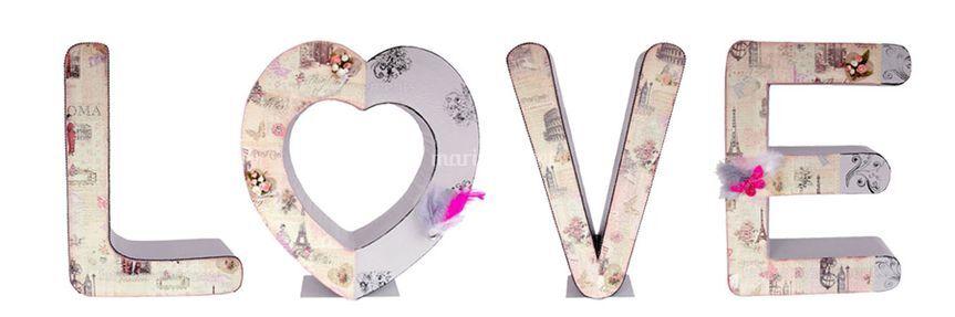 """Lettres décorées """"romantique"""""""