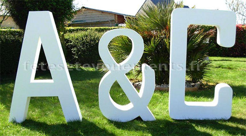 Lettres 3D géantes. H: 120cm