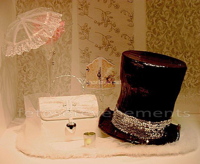"""Urne """"chapeau fou et son sac"""""""