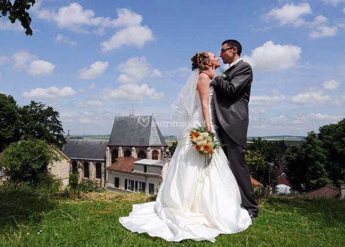 Un bisou des mariés