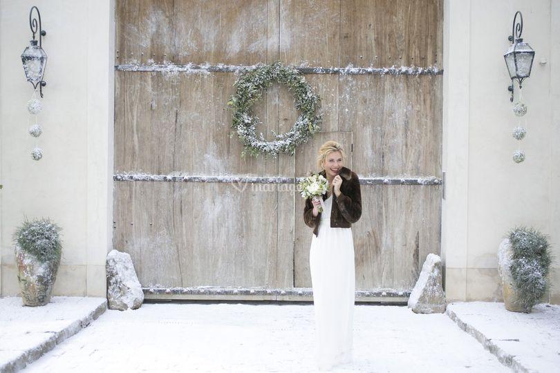 un mariage sous la neige sur domaine de quincampoix - Mariage Domaine De Quincampoix
