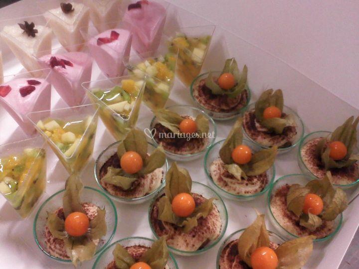 Verrines de desserts