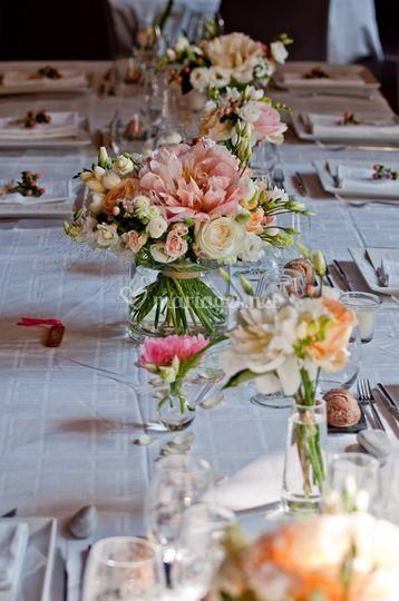 Fleurissement table d'honneur