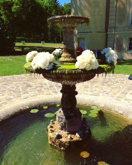 Fontaine fleurie