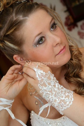 Maquillage smoky Strass sur Karine Maquillage