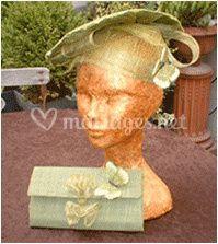 Chapeau et pochette sur Marie-Line Fouqueré - Modiste - Création de chapeaux