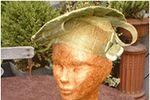Chapeau et pochette sur Marie-Line Fouquer� - Modiste - Cr�ation de chapeaux