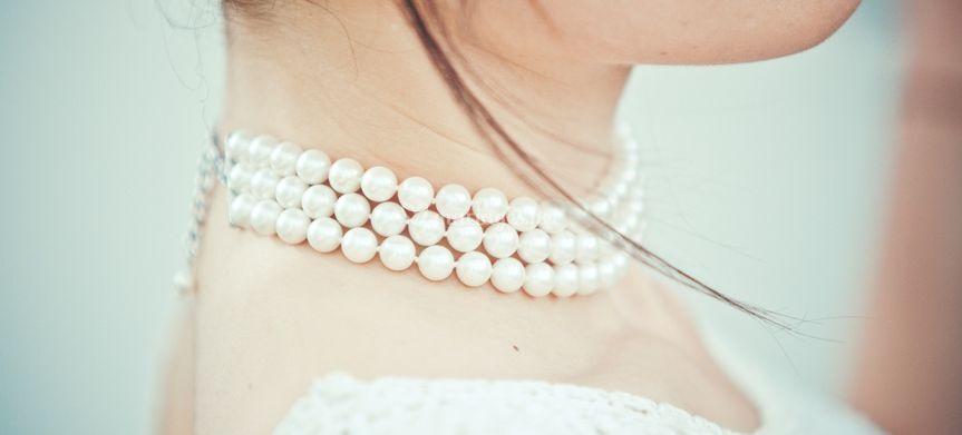 Ras de cou perles blanches