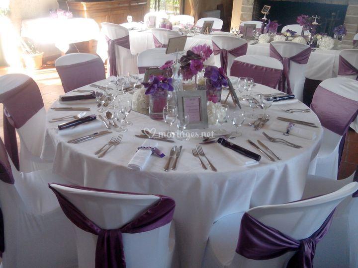 Décoration table et housses de chaises