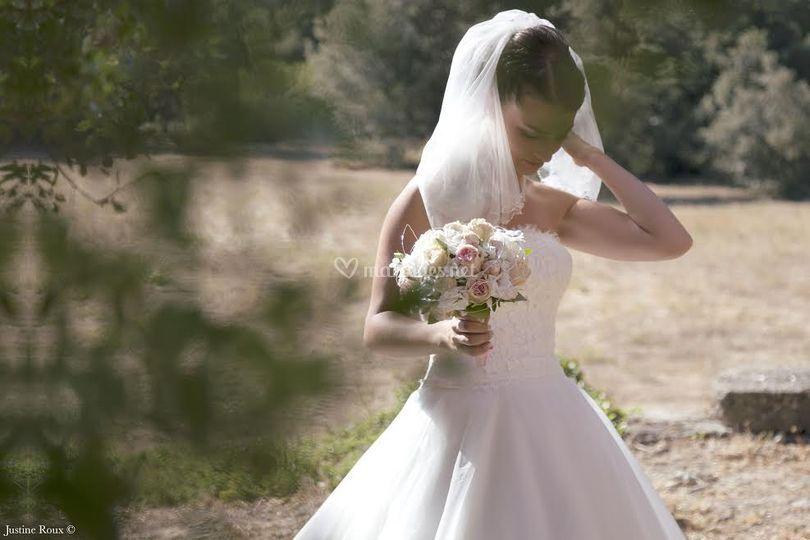 Bouquet de mariée tendre