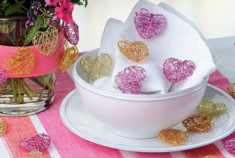 Coeur aluminium mariage