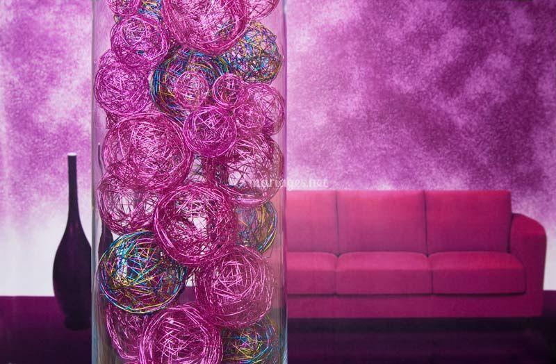 Boule aluminium decoration