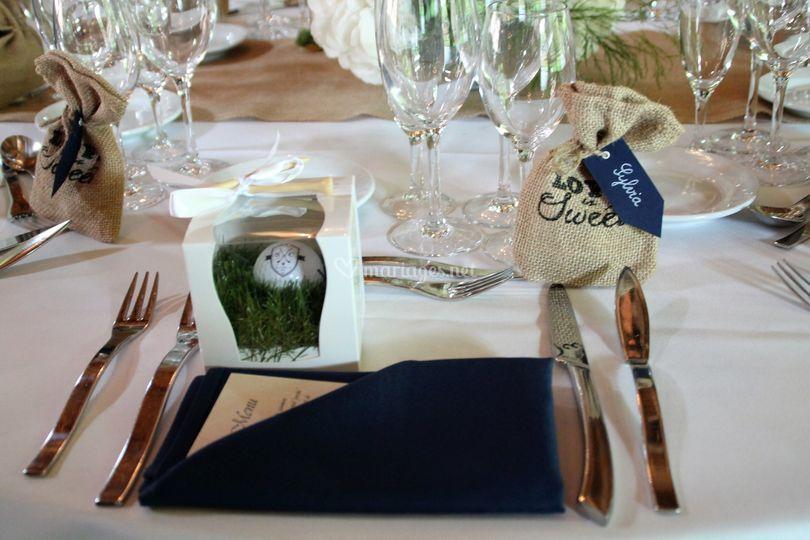 Décoration mariage thème golf