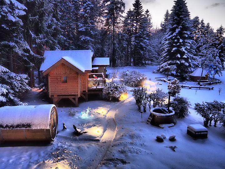 Les lodges en hiver